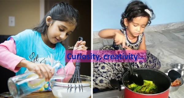 Cooking creativity, curiosity, learning skills