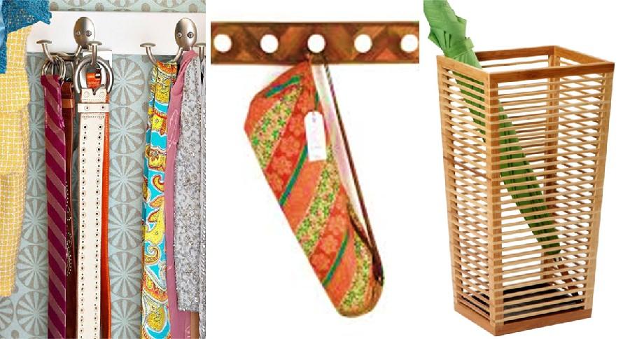 Umbrella yoga mat tie storage