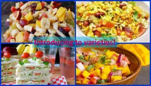Varieties of foods for kids