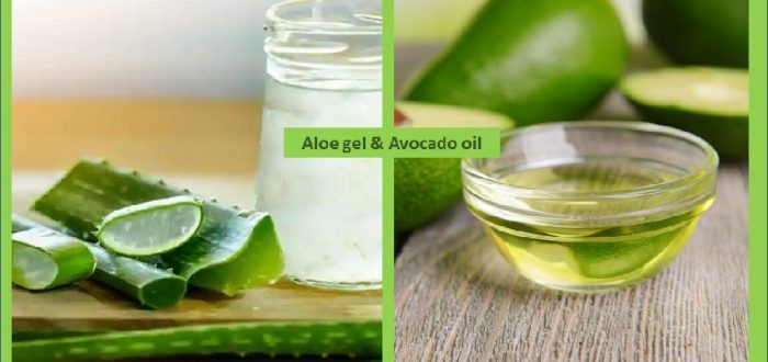 Aloe vera gel and avocado oil face cleanser