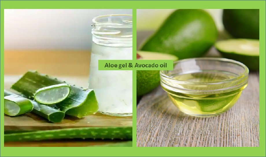 Aloe vera gel and avocado oil face cleanser