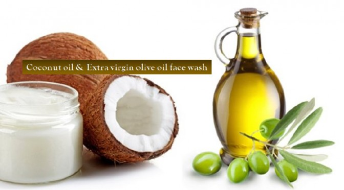 Olive oil and coconut oil cleanser