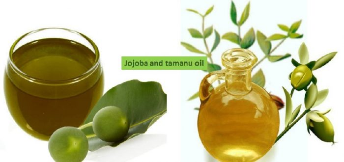 Jojoba and tamanu oil