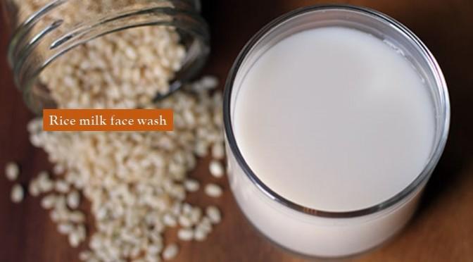 Rice milk face wash