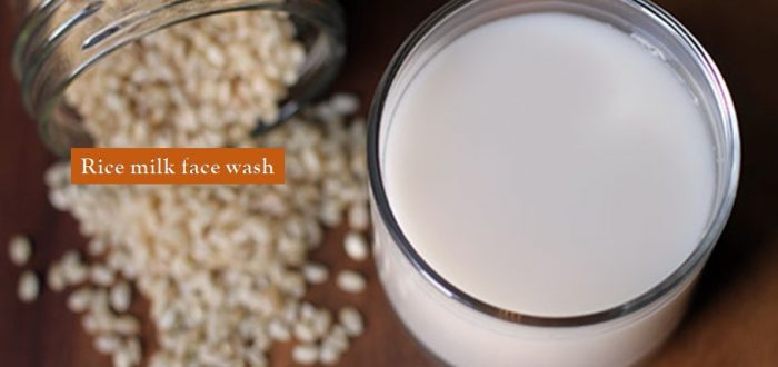 Rice milk face wash