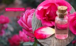Rosewater facial wash
