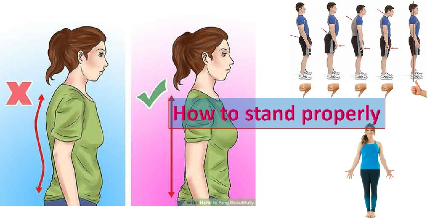 Correct standing posture