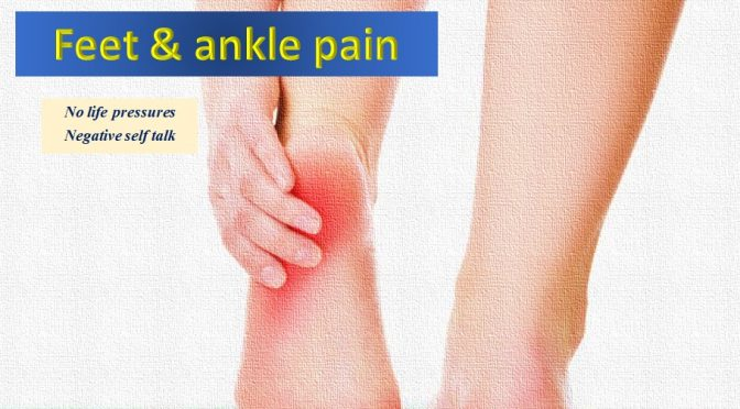 Emotions, ankle and feet pain