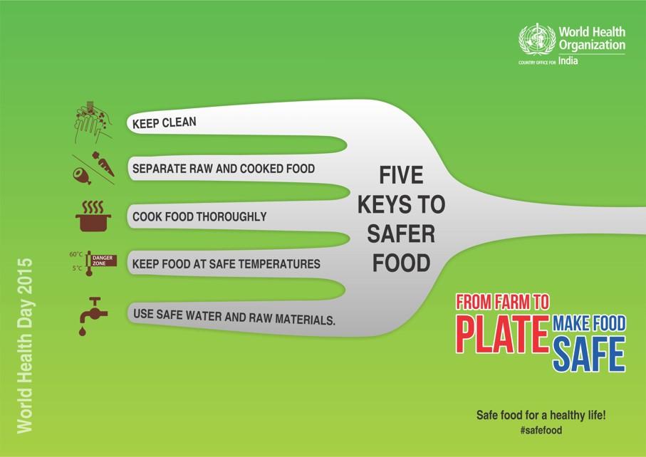 5 Food safety keys