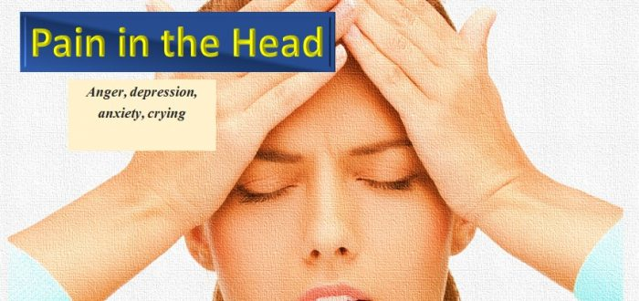 Head pain and emotions