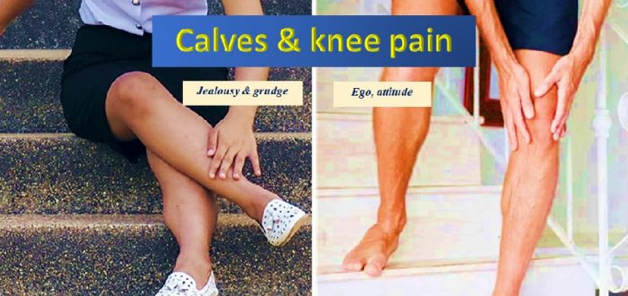 Emotions, knee and calf pain