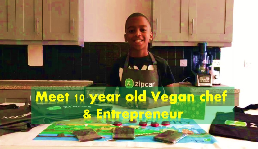 Omari McQueen vegan chef