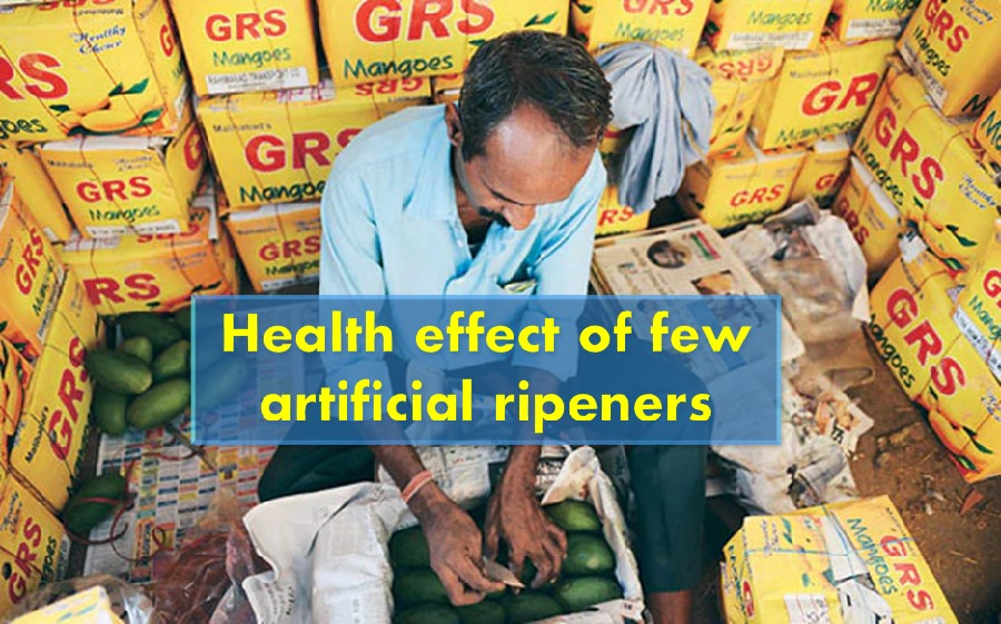 Health effect of artificial ripened fruits