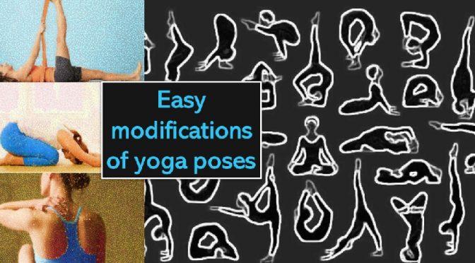 Yoga pose modifications