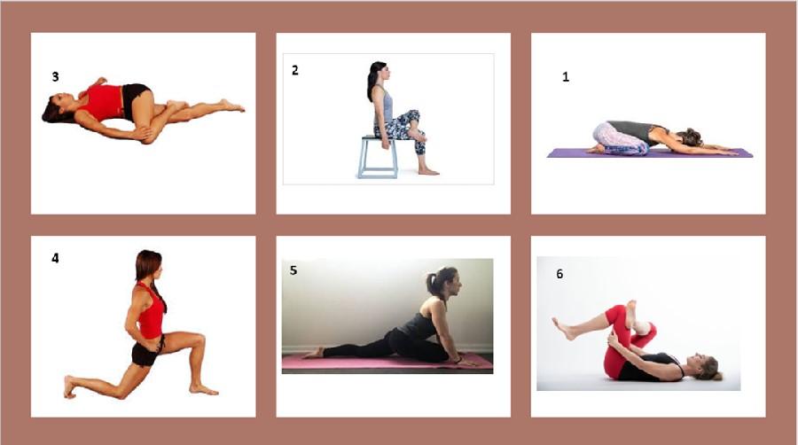 Sciatica pain relief pose