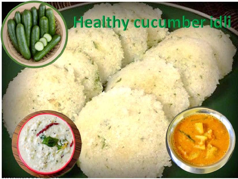 Cucumber idli recipe