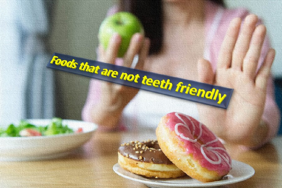 Harmful foods for dental health