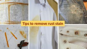 Rust stain removal tips