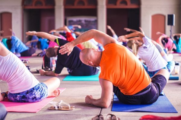 yoga pose for body builders