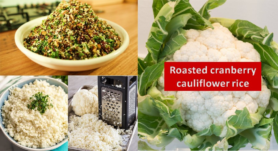 Roasted cauliflower rice recipe