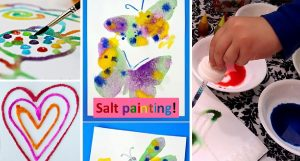 Salt painting art work