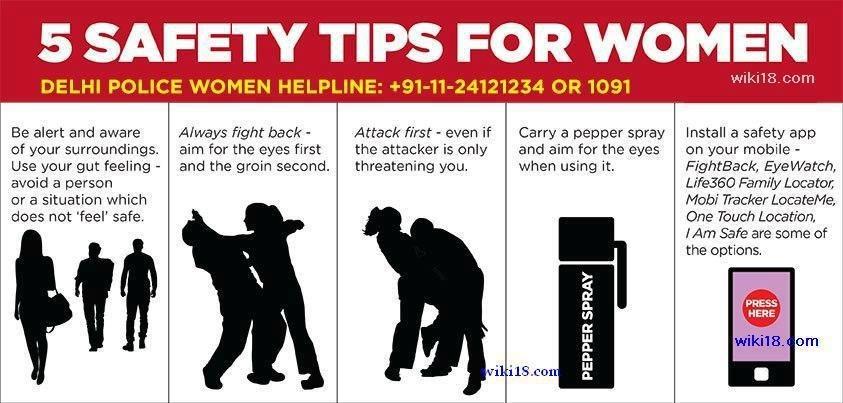 Delhi police safety tips
