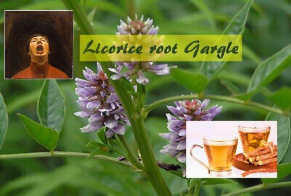 Licorice root gargle