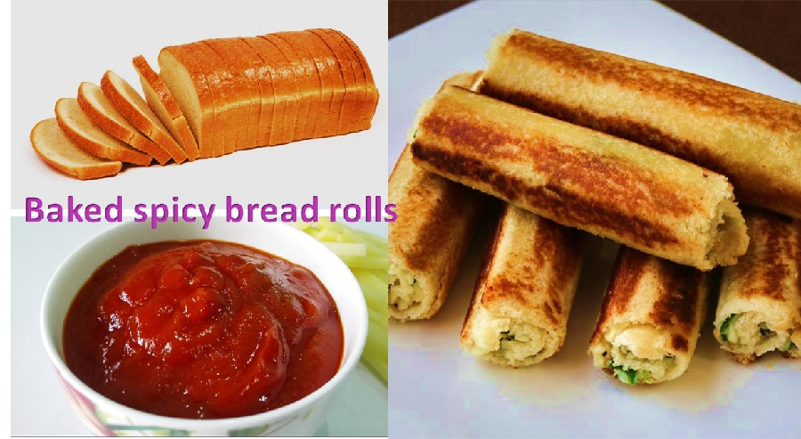 Baked spicy bread rolls