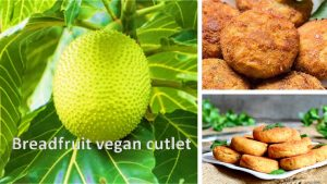 Breadfruit vegan cutlet