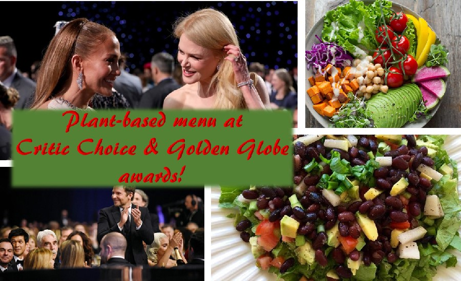 Plant based menu at Golden Globe