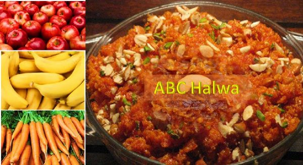 Apple banana carrot halwa