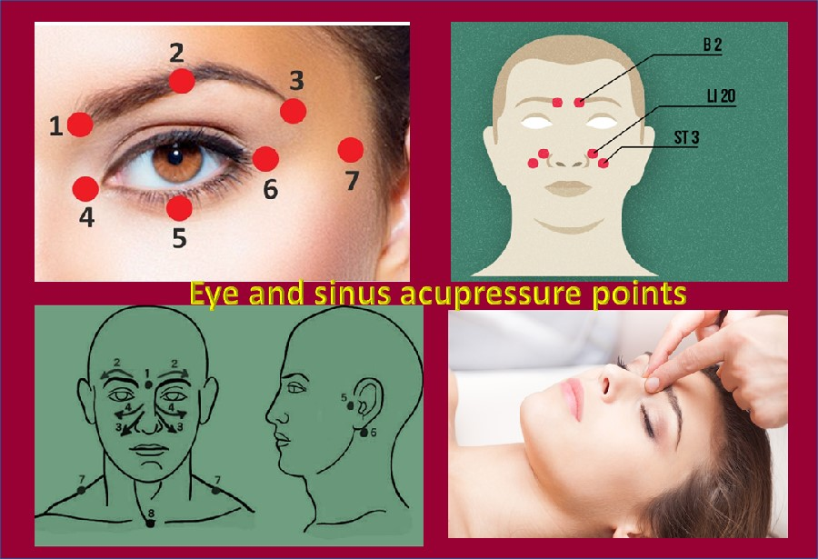 Acupressure for eye and sinus