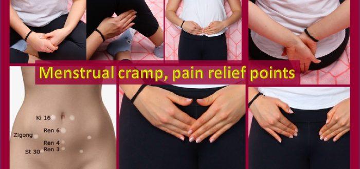 Acupressure for menstrual cramp