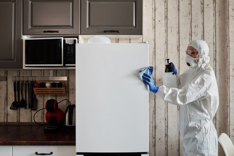 Disinfecting grocery, phone and mail