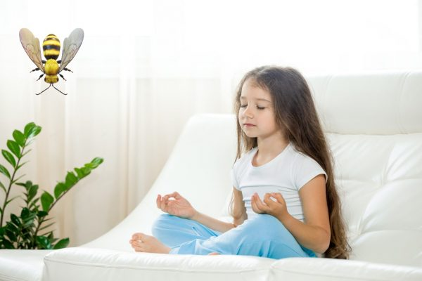 Bee breathing & meditation for kids