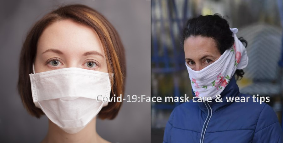 Face mask care and wear tips