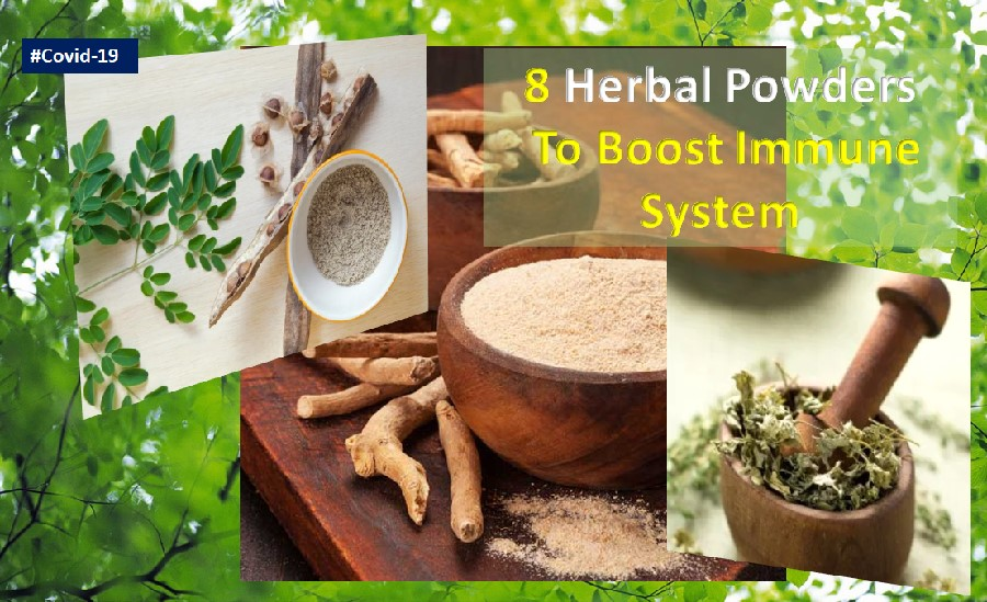 Herbal powders to boost immune system