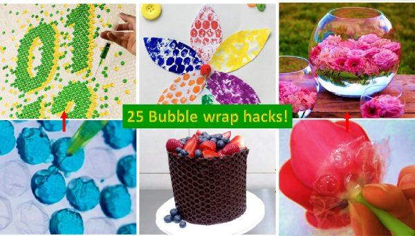 Bubble wrap hacks