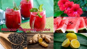 Hibiscus watermelon juice
