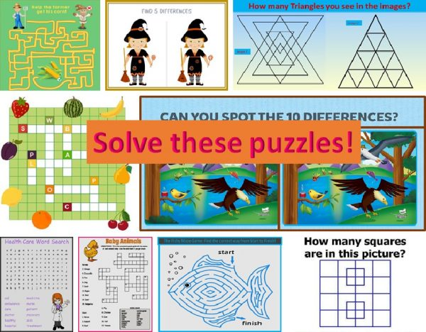 Solve these puzzles