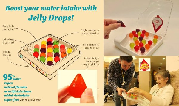 Jelly Drops keeps dementia patients hydrated