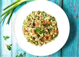 Cauliflower- Sweet potato tabbouleh