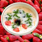 Strawberry raita recipe