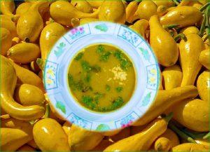 Yellow squash sweet potato soup