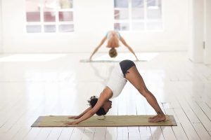 Downward dog pose for hair health