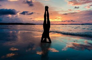 Shirsasana Headstand for hair health