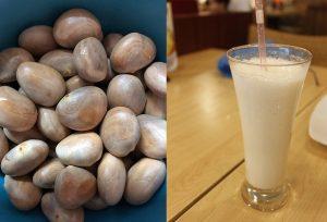 Jackfruit seeds milkshake