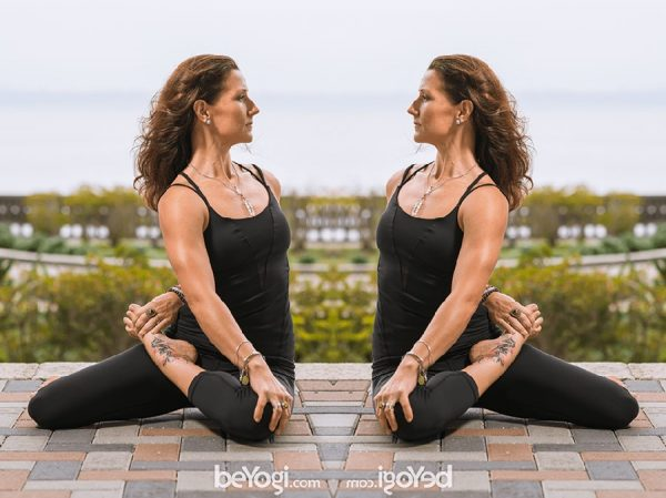 Bharadvaja's twist -spinal twist pose
