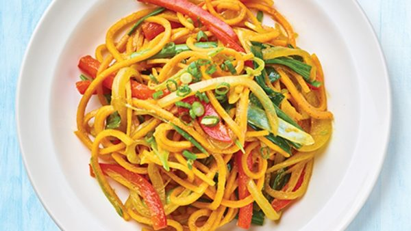 Butternut squash veggie spicy noodle