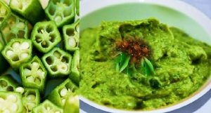 Diabetes Okra green chutney recipe